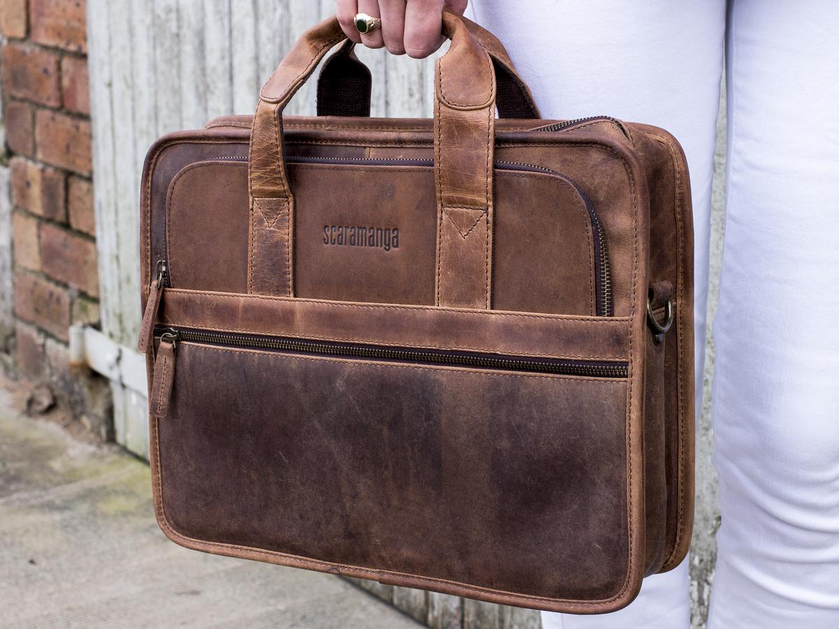 Brown Signature Travel Carrier Laptop Briefcase Color