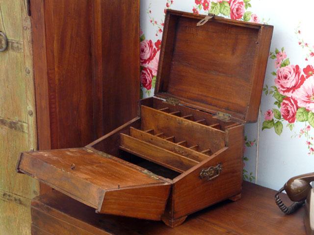 old wooden storage box 946 sold scaramanga