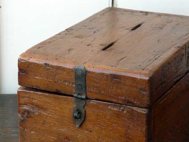 Vintage Wooden Money Box 563