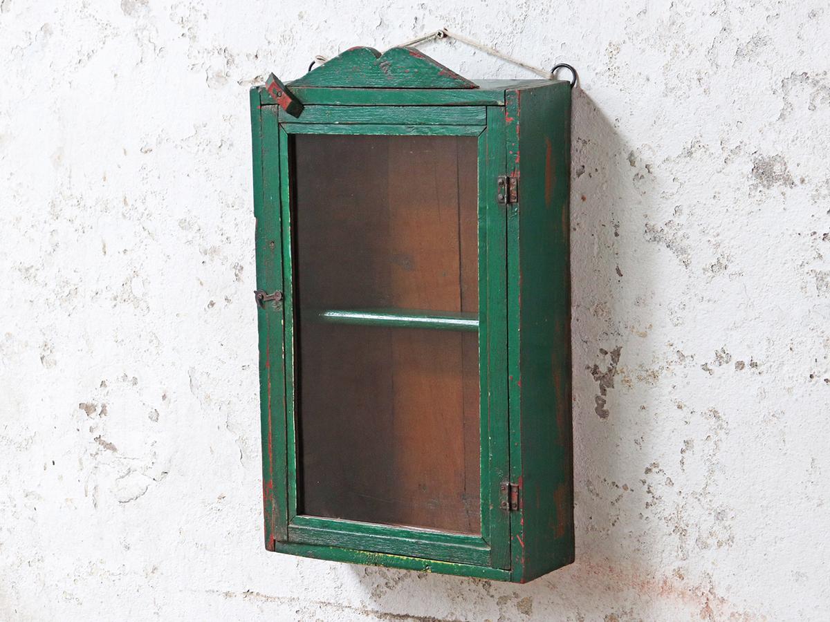 Rustic Green Kitchen Cabinet Vintage Storage Scaramanga