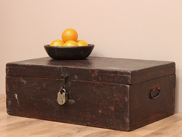 Antique wooden chest sold scaramanga