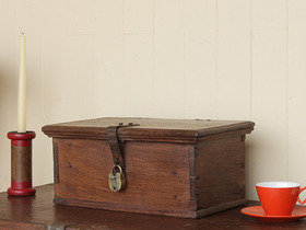 View our  Vintage Teak Trinket Box from the  Old Wooden Chests, Trunks & Boxes collection