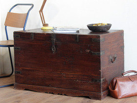 View our  Large Old Wooden Chest from the  Old Wooden Chests, Trunks & Boxes collection