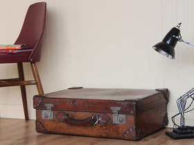 Antique Leather Suitcase TLNM45224 C Thumbnail