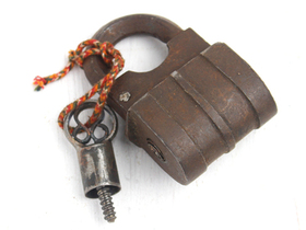 Antique Screw Padlock - Medium Thumbnail