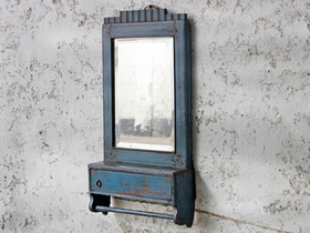 View our  Blue Vintage Mirror from the  For The Home collection