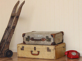 Canvas Vintage Suitcase (C) Thumbnail