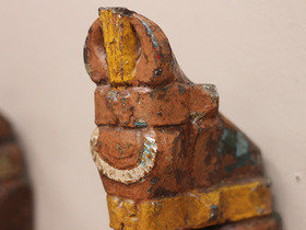 Colourful Antique Marwari Horses Head Pair Thumbnail