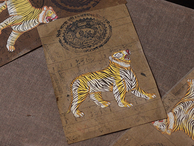 Hand Painted Indian Poster – Terrifying Tigers Thumbnail