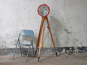 Industrial Upcycled Tripod Ship Light Thumbnail