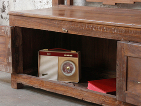 Vintage Bench With Storage Thumbnail