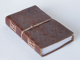 Large Embossed Leather Notebook Thumbnail