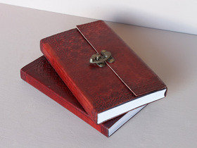Large Leather Lockable Journal With Lined Paper Thumbnail
