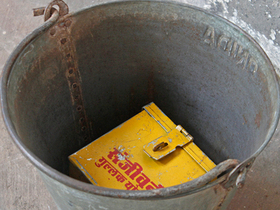 Large Vintage Metal Bucket Thumbnail