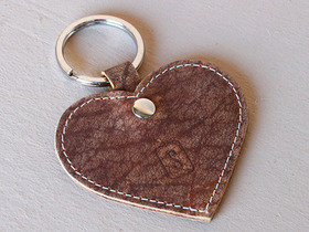 Leather Heart Keyring Thumbnail