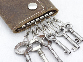 Leather Keyring Case Thumbnail