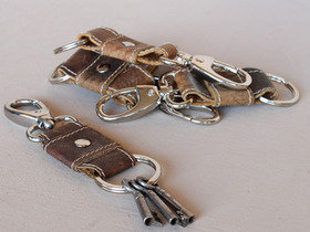 Leather Keyring Clip Thumbnail
