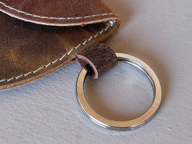 Leather Purse Keyring Thumbnail