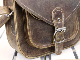 Leather Saddle Bag 9 Inch Thumbnail