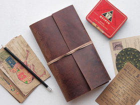 Leather Travel Journal Plain  Thumbnail
