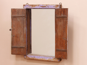 Lilac Shuttered Window Frame Mirror Thumbnail
