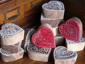 Love Heart Wooden Block Thumbnail
