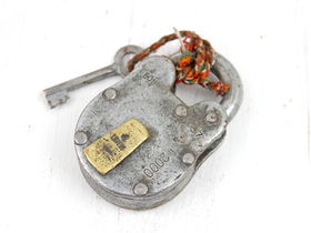 Medium Old Iron Padlock Thumbnail