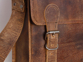 Medium Retro Leather Satchel 13 Inch Thumbnail