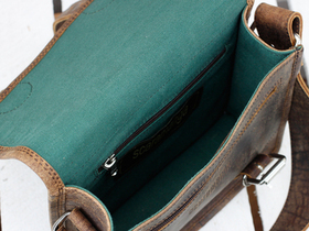 Micro Leather Satchel 9 Inch Thumbnail