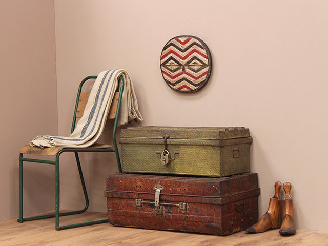 Old Green Travel Trunk Thumbnail