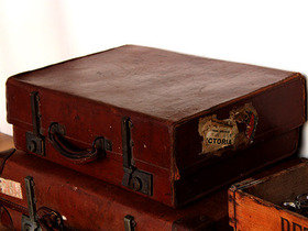 Old Leather Suitcase TLNM45162 Thumbnail