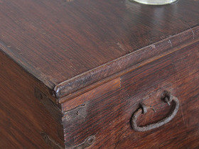 Old Rosewood Chest With Metal Banding 3095 Thumbnail