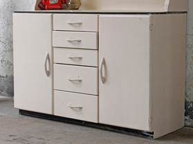 Original Retro 1950s Kitchen Larder Cupboard Thumbnail