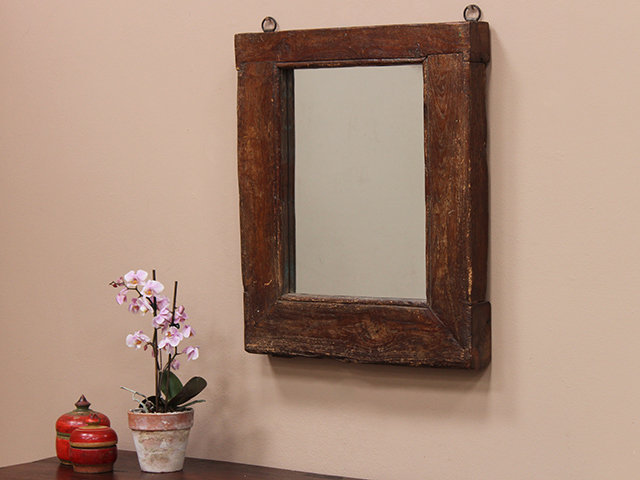 Reclaimed Antique Window Frame Mirror Thumbnail