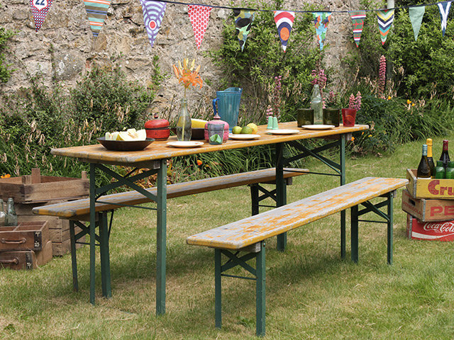 Retro Oktoberfest Fold-Down Table And Benches Thumbnail