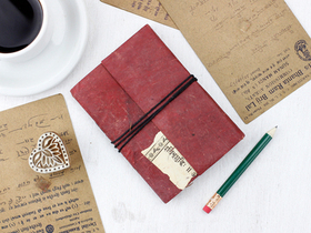 Small Vintage Leather Notebook Thumbnail