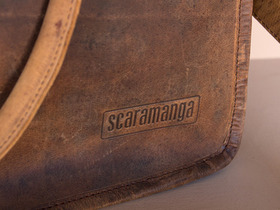 Small Vintage Leather Travel Holdall Bag Thumbnail