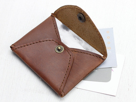 Tan Leather Card Holder Thumbnail