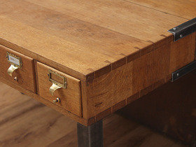Upcycled Oak Dinning Table TCBS40119 Thumbnail