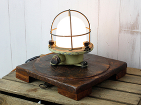 Upcycled Vintage Ship Bulkhead Light Thumbnail