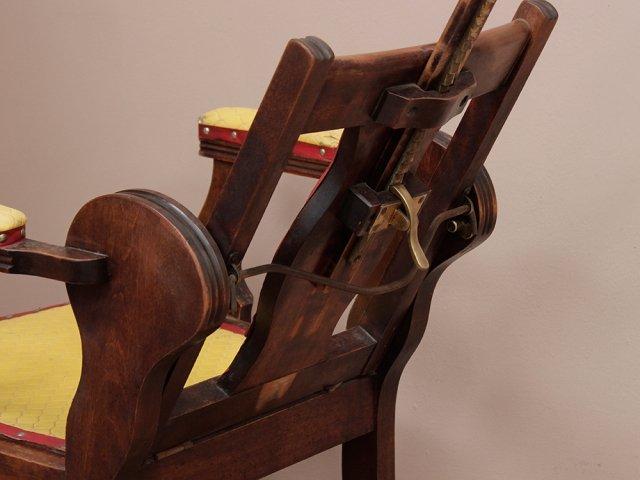 Victorian Reclining Barber Chair Thumbnail · Victorian Reclining Barber  Chair Thumbnail ... - Victorian Reclining Barber Chair - Sold - Scaramanga
