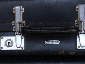 Vintage Black Suitcase by Revolution Thumbnail
