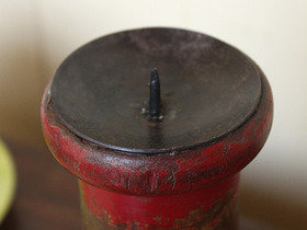 Vintage Bobbin Candle Holder (a pair) Thumbnail