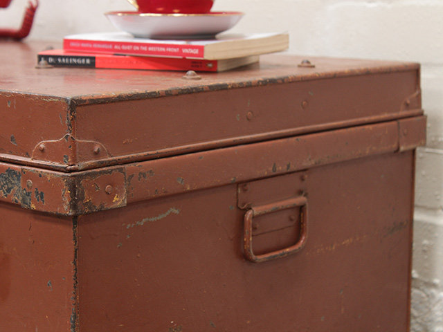 Vintage Colourful Metal Trunk Thumbnail