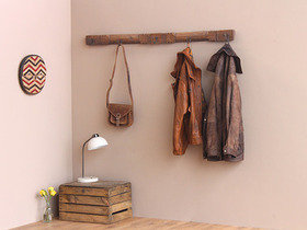 Vintage Distressed Coat and Hat Hook Rack  Thumbnail