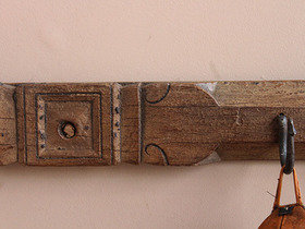 Vintage Distressed Coat and Hat Hook Rack (C) Thumbnail