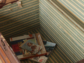 Vintage Domed Travel Trunk (C) Thumbnail