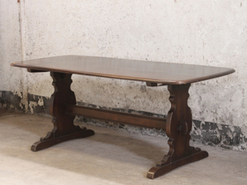 Vintage Elm Dining Table by Ercol Thumbnail