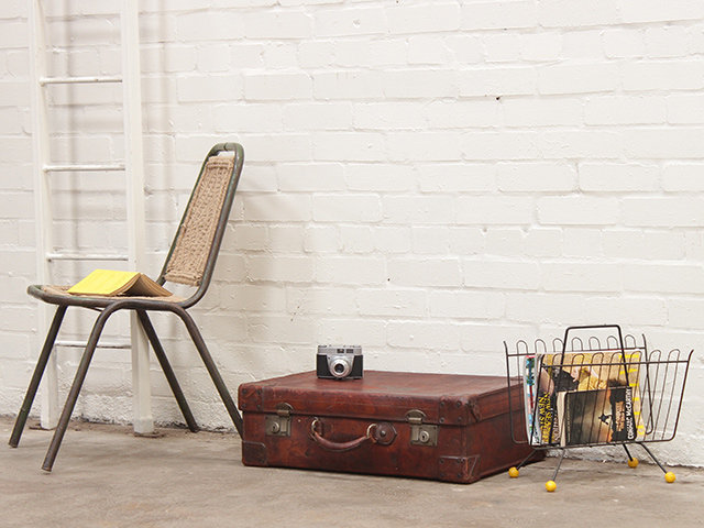 Vintage Leather Travel Suitcase Thumbnail