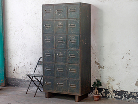 Vintage Industrial Metal Lockers Thumbnail